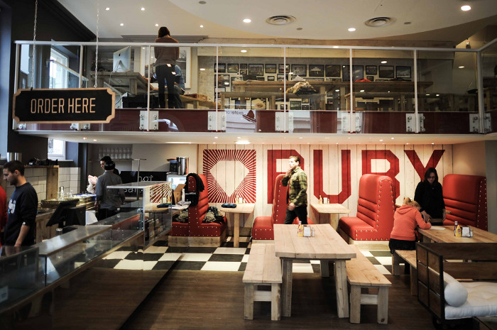 Branding, Design And Art Direction For New Modern Diner Ruby. As Well As  Creating The Branding I Was Asked To Consult On The Interior Design  Including ...