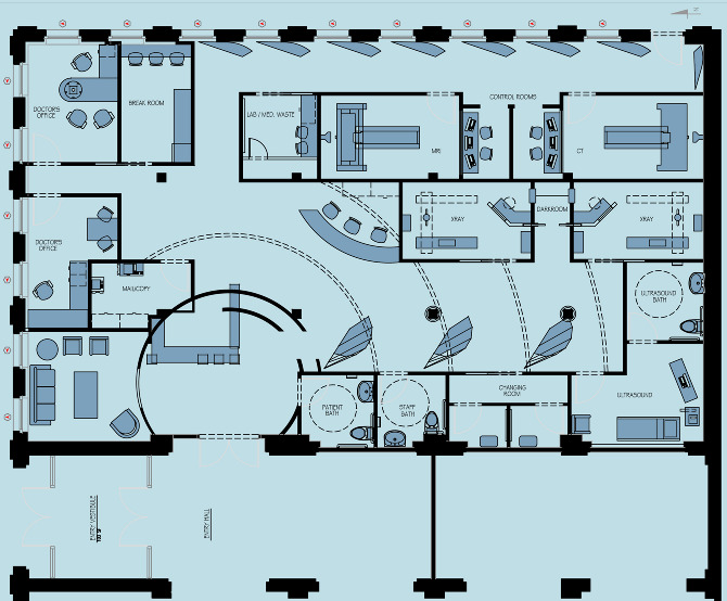 Office for radiology dominique guarino for X ray room floor plan