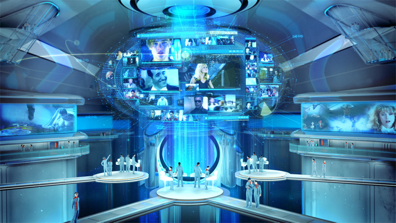 Foxtel on demand push the button tvc the dmci for Futuristic control room